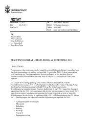 Reguleringer av leppefisk i 2011 - Fiskeridirektoratet