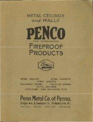 Penco Metal Ceilings and Walls 1933