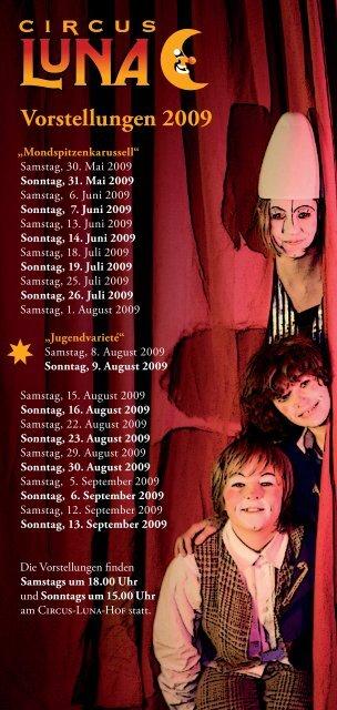 Vorstellungen 2009 - Circus Luna
