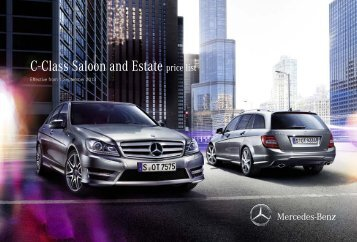 C-Class Saloon and Estate price list - Mercedes-Benz