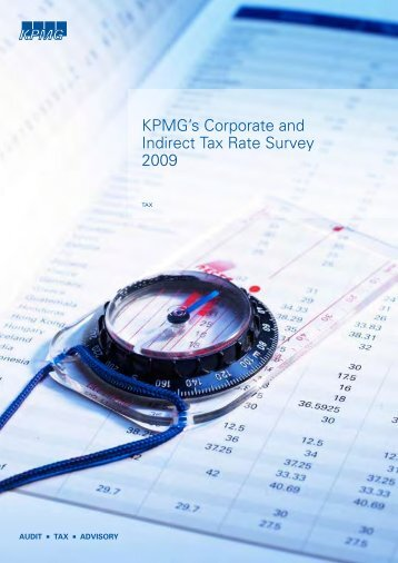 KPMG's Corporate and Indirect Tax Rate Survey 2009
