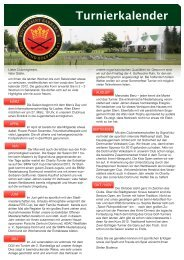 Turnierkalender - Golfclub Dortmund