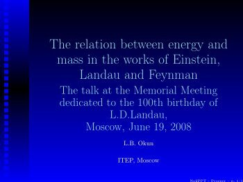The relation between energy and mass in the works of Einstein ...