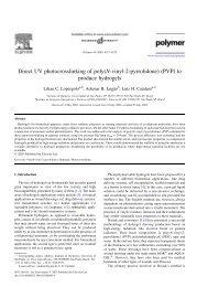 Direct UV photocrosslinking of poly(N-vinyl-2-pyrrolidone) (PVP) to ...