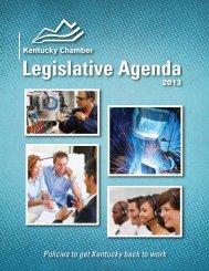 The Legislative Agenda (2013) - Kentucky Chamber of Commerce
