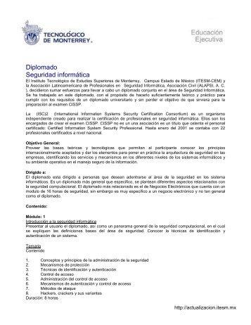 Diplomado Seguridad informática