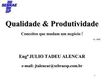 Qualidade & Produtividade - Sebrae