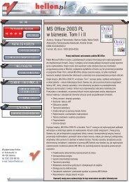 MS Office 2003 PL w biznesie. Tom I i II - Structum