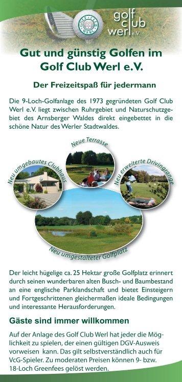 Flyer 2 GC Werl.indd - Golfclub Werl