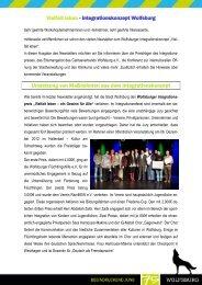 Liebe Workshopteilnehmerinnen und –teilnehmer, - Wolfsburg