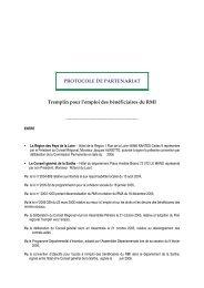 Tremplin pour l'emploi des bénéficiaires du RMI - Régions formation