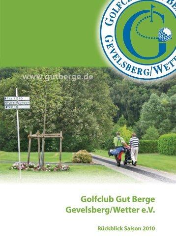 So sehen Sieger aus! - Golfclub Gut Berge