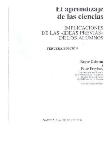 Page 1 m aprenalzaje de las ciencias IMPLICACIONES DE LAS ...