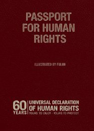 Passport for human rights - amnesty.be