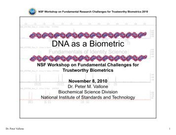 DNA as a Biometric - Clarkson University