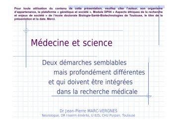 Médecine et science - Plateforme societal