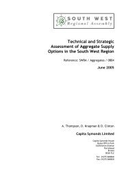 Technical and Strategic Assessment of Aggregate Supply Options in ...