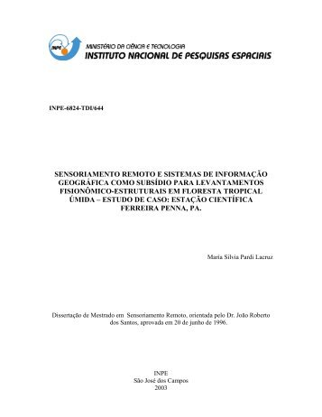 Documento completo - OBT - Inpe