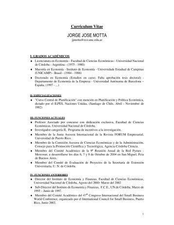 jorge jose motta - Instituto de Economía y Finanzas - Universidad ...