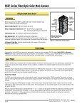 Push Button R55F Series Fiber-Optic Color Mark Sensors - Multiprox - Page 4