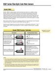 Push Button R55F Series Fiber-Optic Color Mark Sensors - Multiprox - Page 6