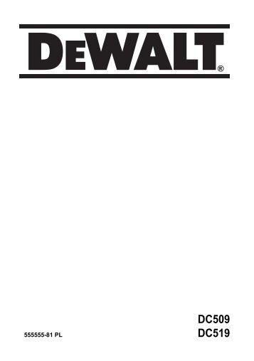 DC509 DC519 - Service - DeWALT