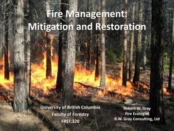 Fire Management - University of British Columbia