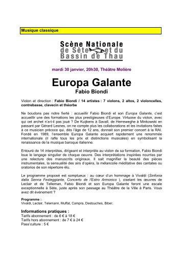 06 - EUROPA GALANTE - FABIO BIONDI - Ville de Gigean