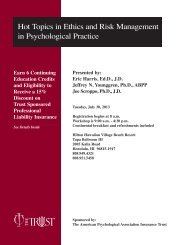 Hot Topics in Ethics and Risk Management in ... - The Trust