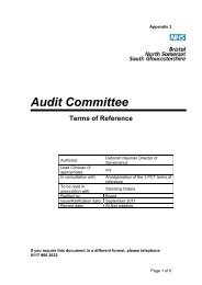 Audit Committee ToR - NHS North Somerset