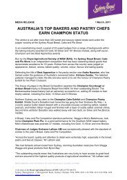 australia's top bakers and pastry chefs earn champion status - Royal ...