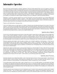 Informative Speeches - Fountainhead Press