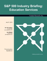 S&P 500 Industry Briefing: Education Services - Dr. Ed Yardeni's ...