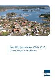 Samhällsforskningen 2004–2010 – Teman, resultat och ... - SKB