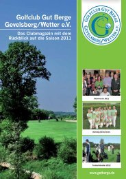 Clubmagazin 2011 - Golfclub Gut Berge