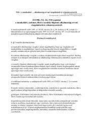 33/1998. (VI. 24.) NM rendelet a munkaköri, szakmai, illetve ...