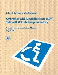Americans with Disabilities Act (ADA) Sidewalk ... - City of Bellevue