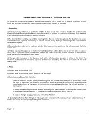 Terms and Conditions of Sale - Circlips