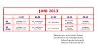 JUNI 2013 - Kino & Café am Ufer