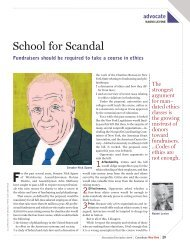 School for Scandal - School of Continuing and Professional Studies