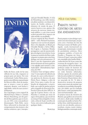 paraty: novo centro de artes em andamento - Ciência e Cultura