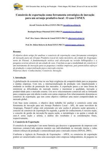 Consórcio de exportação como ferramenta estratégica de ... - UTFPR