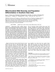 Mitochondrial DNA diversity and population differentiation in ...