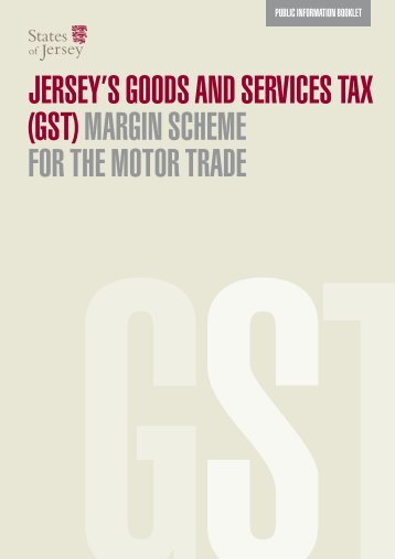 GST and the motor trade - States of Jersey