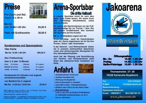 Flyer Jakoarena 2011