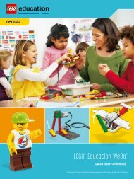 LEGO® Education WeDo™ Quick Start-Anleitung - myRobotcenter
