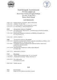 Kevadpäevad Kirurgidega - Eesti Anestesioloogide selts