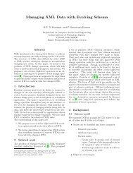Managing XML Data with Evolving Schema - Department of ...