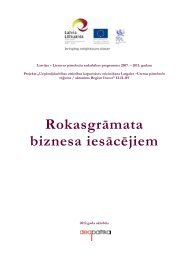 Rokasgrāmata biznesa iesācējiem - Latgale.LV