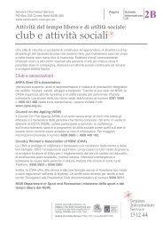 club e attività sociali - Seniors Information Service